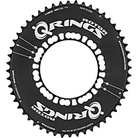 Rotor Q-Ring Road Aero Chainring 110mm 5-Arm outside black